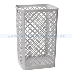 Papierkorb KATRIN Abfallbehälter Kunststoff weiß 40 L