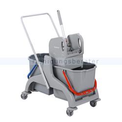 Reinigungswagen ReinigungsBerater Profi PE Kunststoff 2x18 L