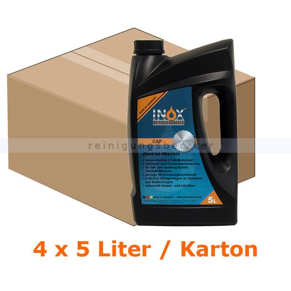 inox cap 2 takt misch l mineralisch 4 x 5 l 2 takt l. Black Bedroom Furniture Sets. Home Design Ideas
