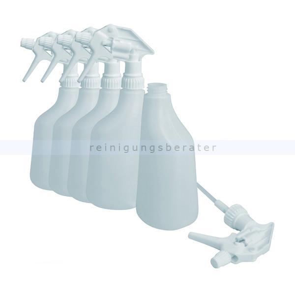 5 Sprühflaschen 600 ml weiß inkl. Sprühköpfen