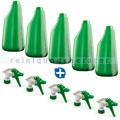5 Sprühflaschen grün 600 ml inkl. Sprühköpfen weiss/grün