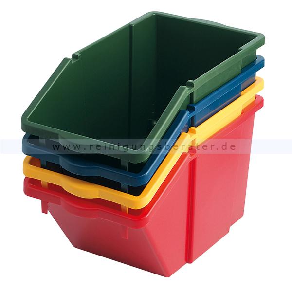 Abfallsammler Recycling-Box mit Deckel Blau