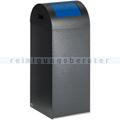 Abfallsammler VAR WSG 55 R antik-silber 60 L enzianblau