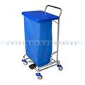 Abfallwagen Floorstar Trennwagen TWD 1fach SOLID blau