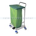 Abfallwagen Floorstar Trennwagen TWD 1fach SOLID grün