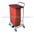 Abfallwagen Floorstar Trennwagen TWD 1fach SOLID rot