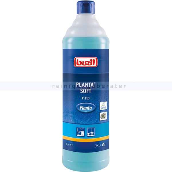 Buzil Alkoholreiniger P313 Planta Soft mit Alkohol 1 L Allesreiniger für wasserbeständige und glänzende Flächen P313-0001R1