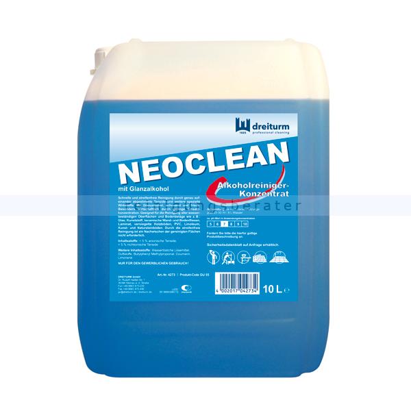 Konzentrat Dreiturm Neoclean 10 L Alkohol-Reiniger, für alle wasserbeständigen Oberflächen 4273