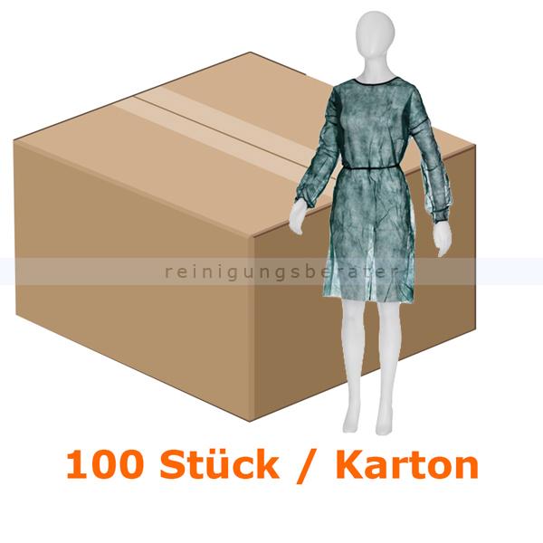 Ampri Besucherkittel Med Comfort dunkelgrün zum binden Besucherkittel aus PP, 1100 x 1400 mm 100 Stück/Karton 05500-DG