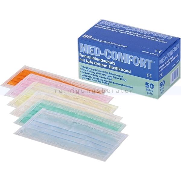 Ampri Mundschutz Med Comfort 3-lagig gelb