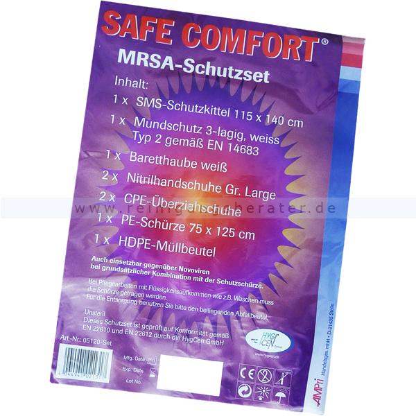 Ampri Schutzkleidung Safe Comfort MrSa Schutzset kompletter Einweg-Ganzkörper-Schutz für Ihre Sicherheit 05120-SET