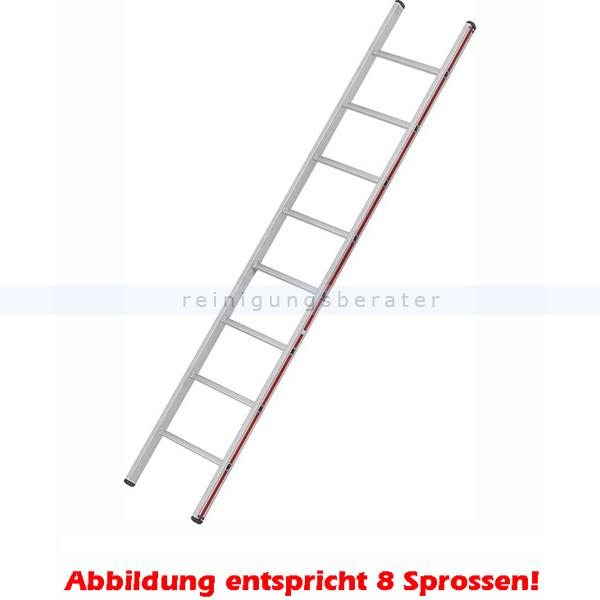 Anlegeleiter Hymer Walzprofil 12 Sprossen mit Holm verpresste Leiterfüße auf beiden Seiten 401112