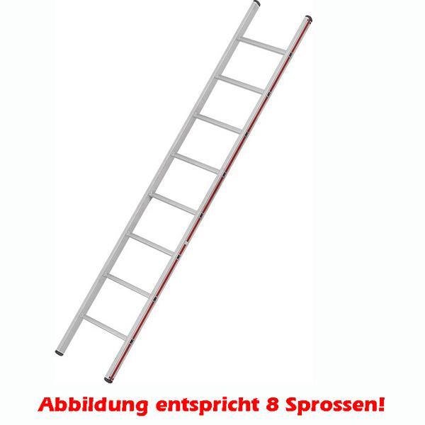 Anlegeleiter Hymer Walzprofil 14 Sprossen mit Holm verpresste Leiterfüße auf beiden Seiten 401114