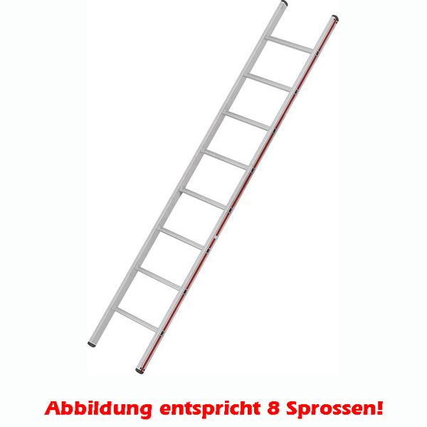 Anlegeleiter Hymer Walzprofil 16 Sprossen mit Holm verpresste Leiterfüße auf beiden Seiten 401116