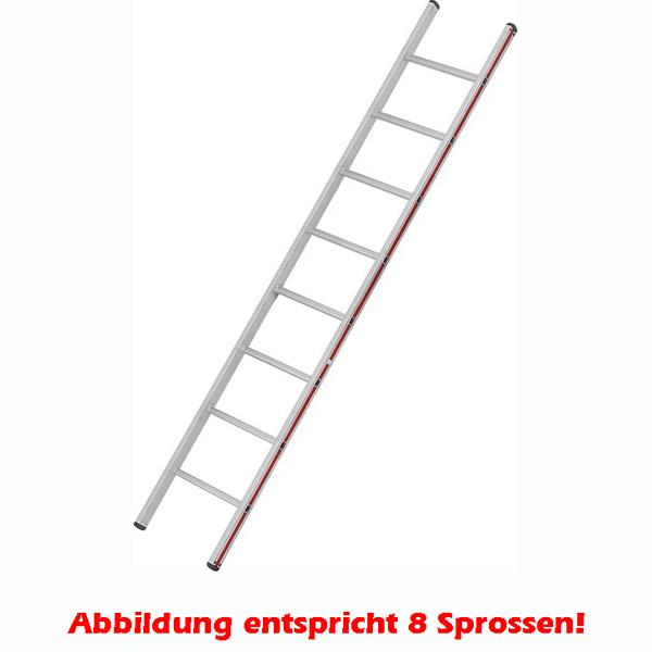 Anlegeleiter Hymer Walzprofil 6 Sprossen mit Holm verpresste Leiterfüße auf beiden Seiten 401106