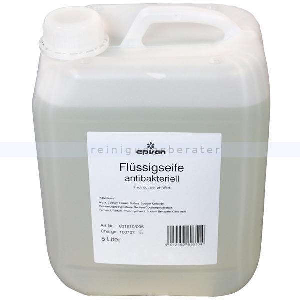 ReinigungsBerater EPISAN Flüssigseife antibakteriell 5 L Seife Cremeseife mit angenehmer antibakterieller Wirkung 801610/005