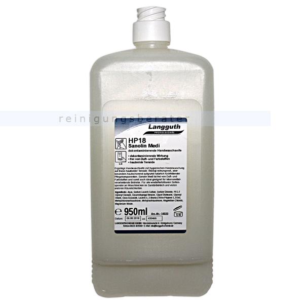 Langguth HP18 Sanolin Medi 950 ml antibakterielle Seife Handwaschseife mit antimikrobieller Wirkung 10223