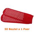 Antirutsch Socken Ampri Einwegsocken universal rot 50 Paar