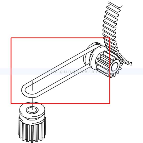 Kränzle 50160 Antriebsriemen Kehrmaschine 2 Plus 2 Rundriemen für den Seitenbesen