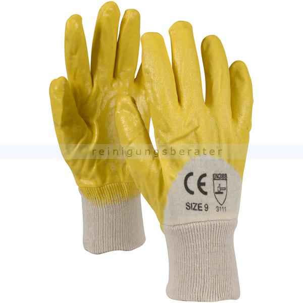 Arbeitshandschuhe Abena Schutzhandschuhe Amarillo gelb L Gr. 9, gelbe Nitrilhandschuhe DIN EN 388 1000007298