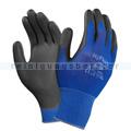 Arbeitshandschuhe Ansell HyFlex® Nylon schwarz-blau in XL
