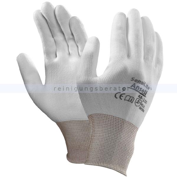 Arbeitshandschuhe Ansell SensiLite® weiß in L Gr. 9, Komfort und Schutz bei leichten Arbeiten 48-100-/9