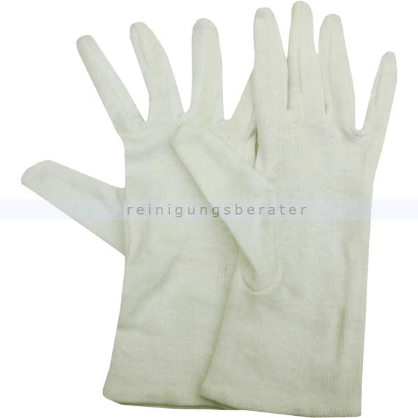Baumwollhandschuhe aus Baumwolle Ampri Feinstrick S Gr. 7, hochwertige Baumwollhandschuhe, 100% Baumwolle 01050-S(7)