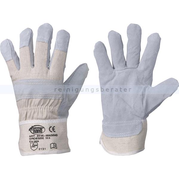 Feldtmann Arbeitshandschuhe aus Leder Madras 5-Finger XL Gr. 10,5, Lederhandschuhe, Innenhand gefüttert 0115