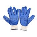 Arbeitshandschuhe Supergrip, Grobstrick weiß blau XL