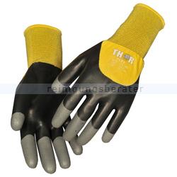Arbeitshandschuhe Thor Flex Dry Handschuhe schwarz-gelb XL