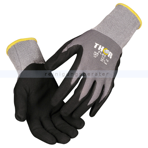 Arbeitshandschuhe Thor Flex silikonfrei Größe 10 (XL) Gr. 10, silikonfrei, sehr hoher Tragekomfort 490021