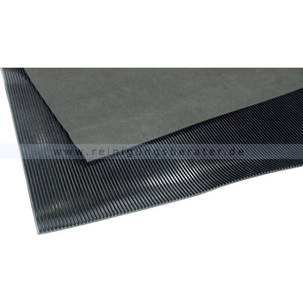 Arbeitsplatzmatte Miltex Feinriefenmatten schwarz 1,00 m Arbeitsplatzmatte für Werkbänke max.10 m lang 19010