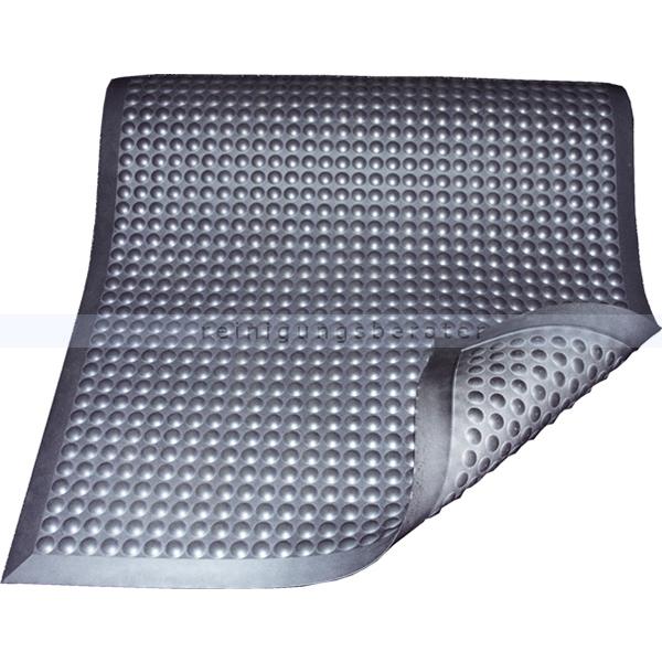 Arbeitsplatzmatte Miltex Yoga Ergonomie B1 grau 65 x 95 cm schwer entflammbare Arbeitsplatzmatte n. DIN 4102 17051
