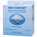Atemschutzmaske Ampri FFP2D Halbmaske ohne Ventil 20 Stück
