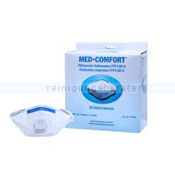 Atemschutzmaske Ampri FFP3D Schutzmaske mit Ventil 1 Stück