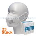 Atemschutzmaske CRDLight FFP2 weiß ohne Ventil 25 Stück