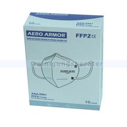 Atemschutzmaske FFP2 NR Schutzmaske AERO ARMOR weiß 10 Stück