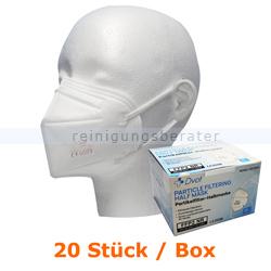Atemschutzmaske FFP2 NR Schutzmaske ohne Ventil weiß 20 Stük