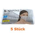 Atemschutzmaske FFP2 NR Schutzmaske ohne Ventil weiß 5 Stück