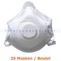 Atemschutzmaske FFP3 NR Schutzmaske mit Ventil weiß 25 Stück