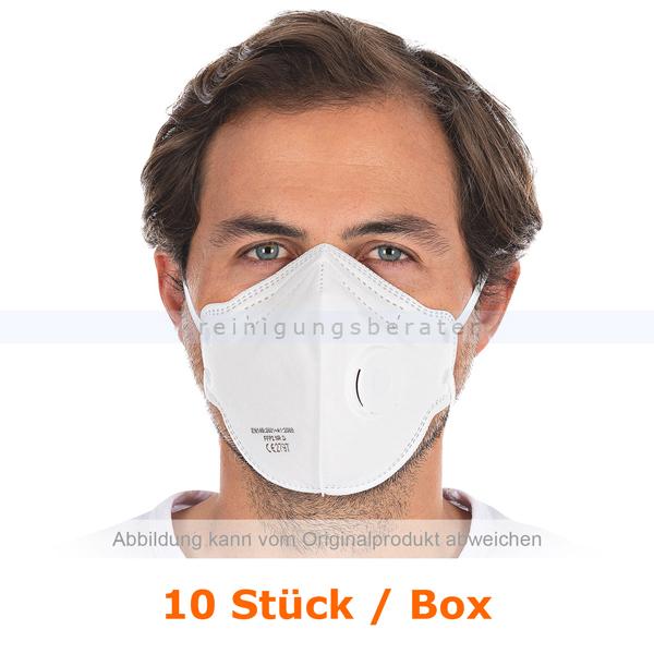 Atemschutzmaske Hygostar FFP2NR weiß mit Ventil 10 Stück