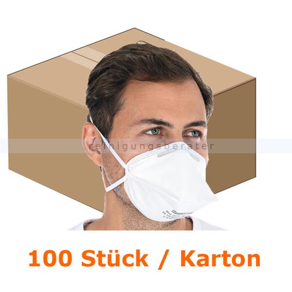 Atemschutzmaske Hygostar FFP2NR weiß ohne Ventil 100 Stück
