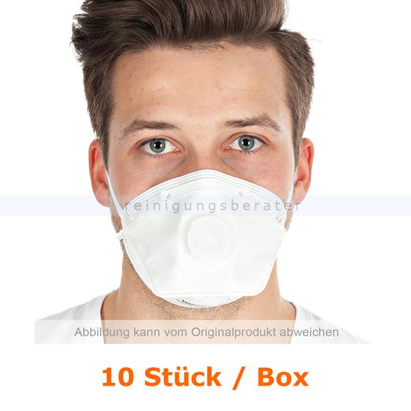 Atemschutzmaske Hygostar FFP3NR weiß mit Ventil 10 Stück