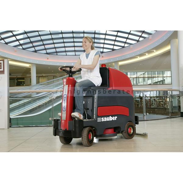 Aufsitz-Scheuersaugmaschine Cleanfix RA 800 Sauber Das Aufsitz-Modell, mit einer Laufzeit von ca. 4 Stunden 800.000