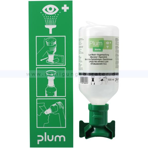 Augenspülstation Plum mit 500 ml Augenspüllösung
