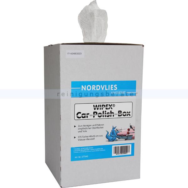 Auto Poliertuch Nordvlies WIPEX-SPEZIAL light Zupfbox Auto Poliertuch aus 100 % Viskose, 275 Tücher 277540