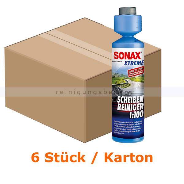 SONAX XTREME ScheibenReiniger 1:100, 6 x 250 ml XTREME ScheibenReiniger 1:100, Kartonabgabe 6x 02711410