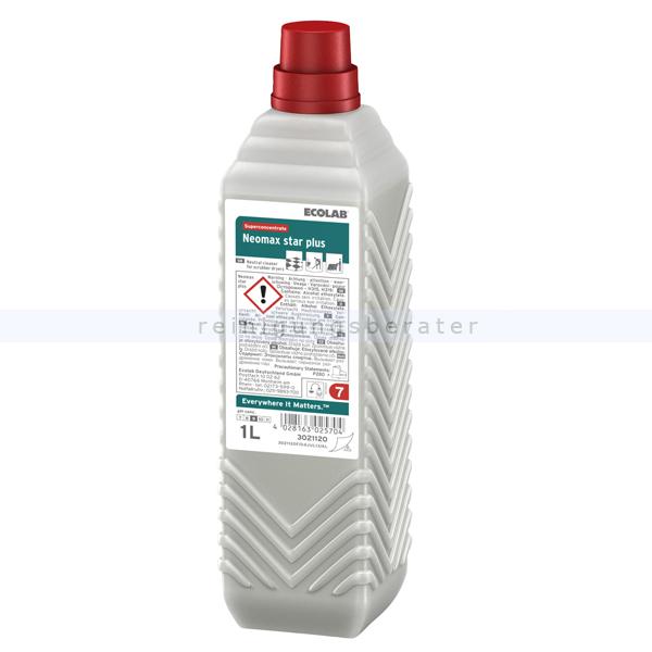 Ecolab Neomax Star plus 1 L Automatenreinigerkonzentrat NSTN Automatenreiniger Hochkonzentrat 3021120