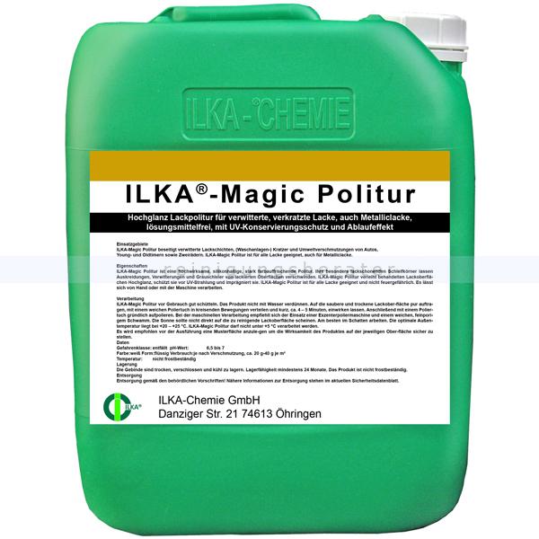 ILKA Chemie ILKA Magic-Politur 10 Liter Kanister Hochglanz Lackpolitur für verschiedene Lacke 0306010
