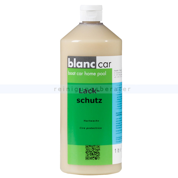 Autopolitur Poliermittel Blanc Car Lackschutz 1 L flüssiges Hartwachs für alle Autolacke 156730